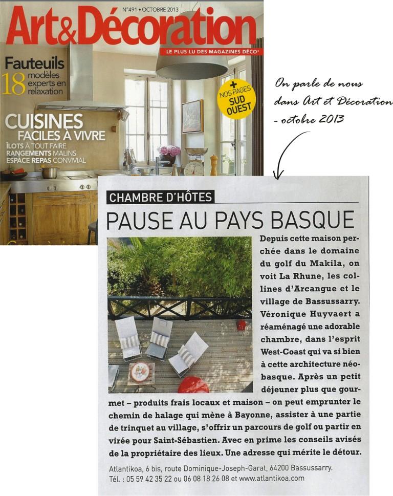 Chambre maison d 39 h tes charme design biarritz pays basque bayonne bassussarry atlantikoa - Chambre et table d hote pays basque ...