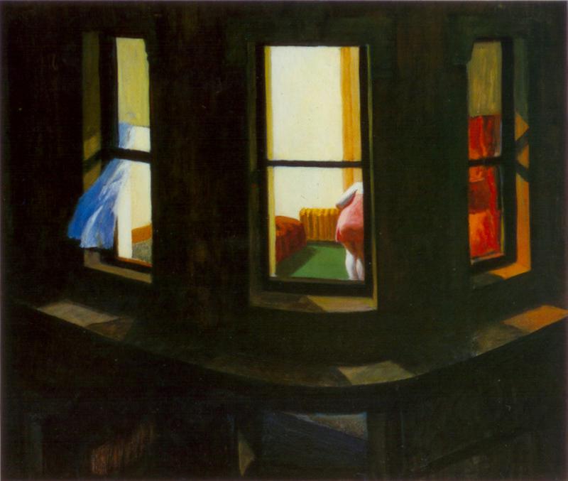 edward hopper night windows 1928 atlantikoa chambre d. Black Bedroom Furniture Sets. Home Design Ideas