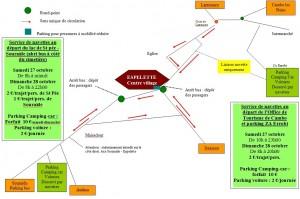 Infos pratiques accès et parking Fête du Piment à Espelette 2012