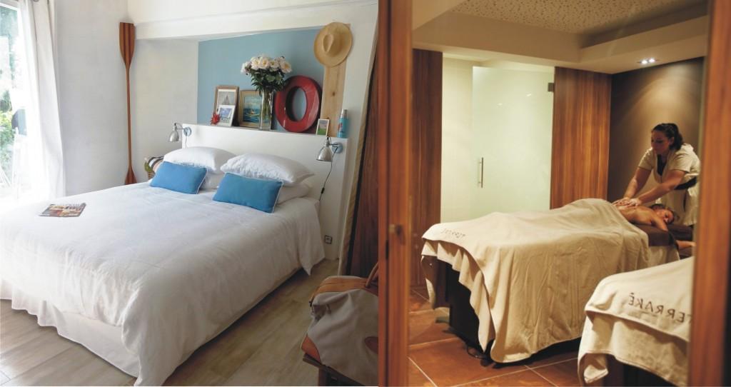S jour en chambre d 39 hote et spa pays basque atlantikoa - Chambre d hote couleur bois et spa ...